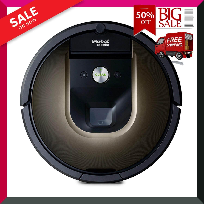 หุ่นยนต์ดูดฝุ่นอัจฉริยะ รุ่น Roomba 980 สีดำ ความจุ 0.6 ลิตร Vacuum Cleaners : Roomba 980 Black Color Capacity 0.6 L สินค้าขายดี สินค้าคุณภาพ Premium วัสดุคุณภาพสูง ***ส่งฟรี***
