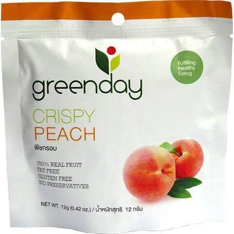 (แพ็ค 6) Greenday Crispy Peach Chips 12g