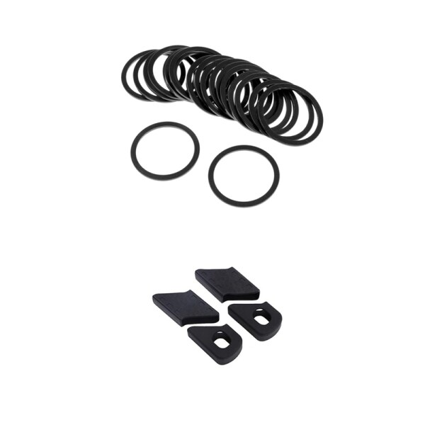 Mua 20Pcs Bike Sprocket Spacer Washer Bracket Center Axis 2mm with 4Pcs Bicycle Crank Cover Silicone Arm Sleeve Non-Slip