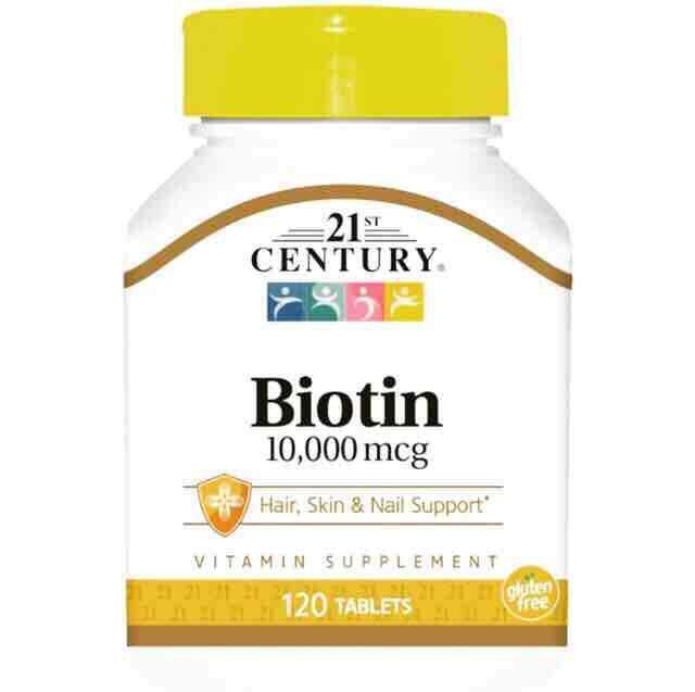 (ส่งฟรี) ไบโอติน บำรุงผมช่วยลดผมร่วงและบำรุงเล็บ 21st Century, Biotin, 10000 Mcg, 120 เม็ด By Hello999.