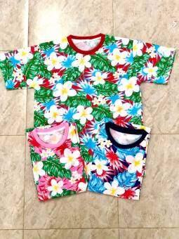 เสื้อยืดลายดอก เสื้อฮาวาย เสื้อสงกรานต์ เสื้อยืด เสื้อคู่ เสื้อทีม