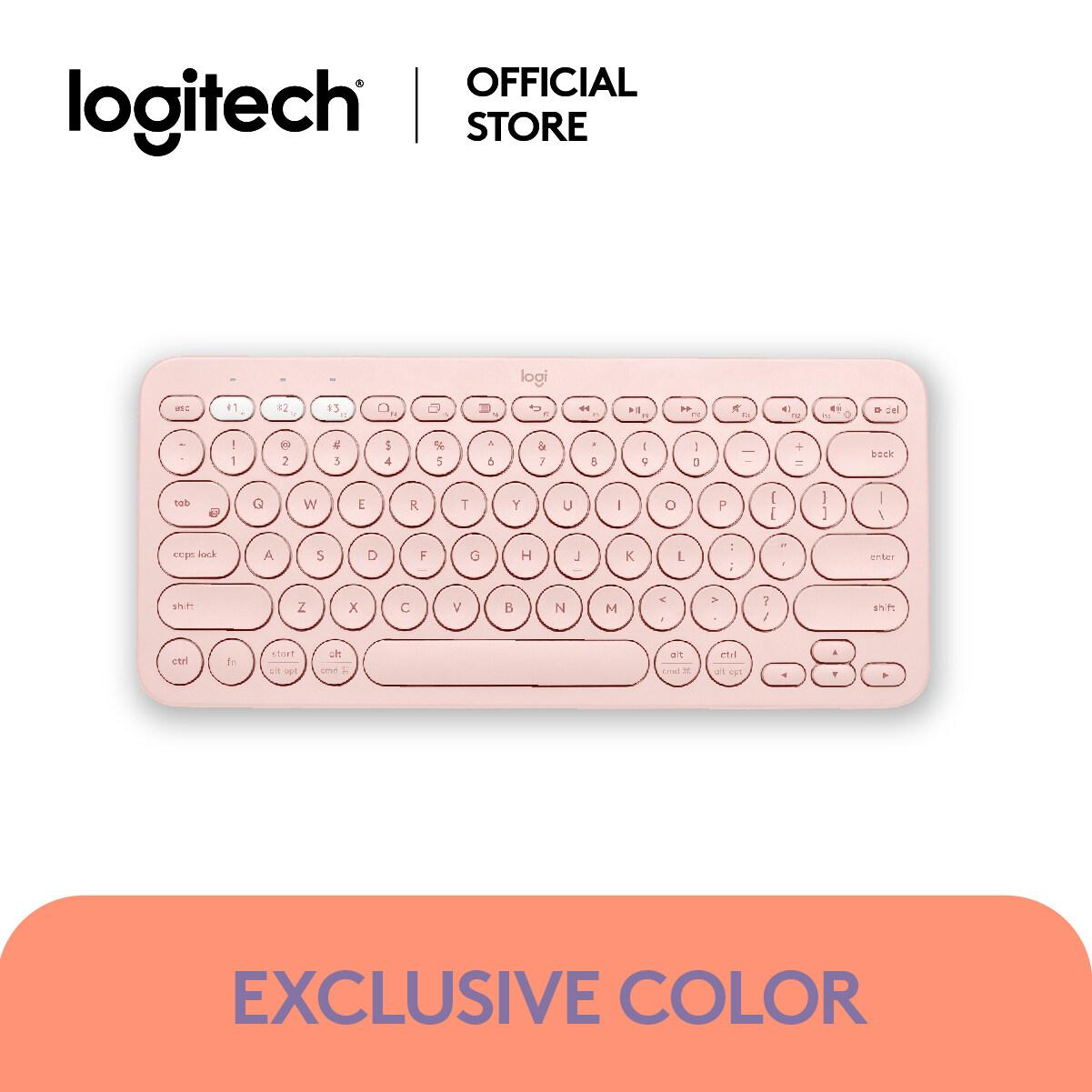 Logitech K380 Multi-Device Bluetooth® Keyboard Eng Only ฟรี!! สติ้กเกอร์คีย์บอร์ดภาษาไทยสำหรับ K380 ( แป้นพิมพ์ คีย์บอร์ด ).