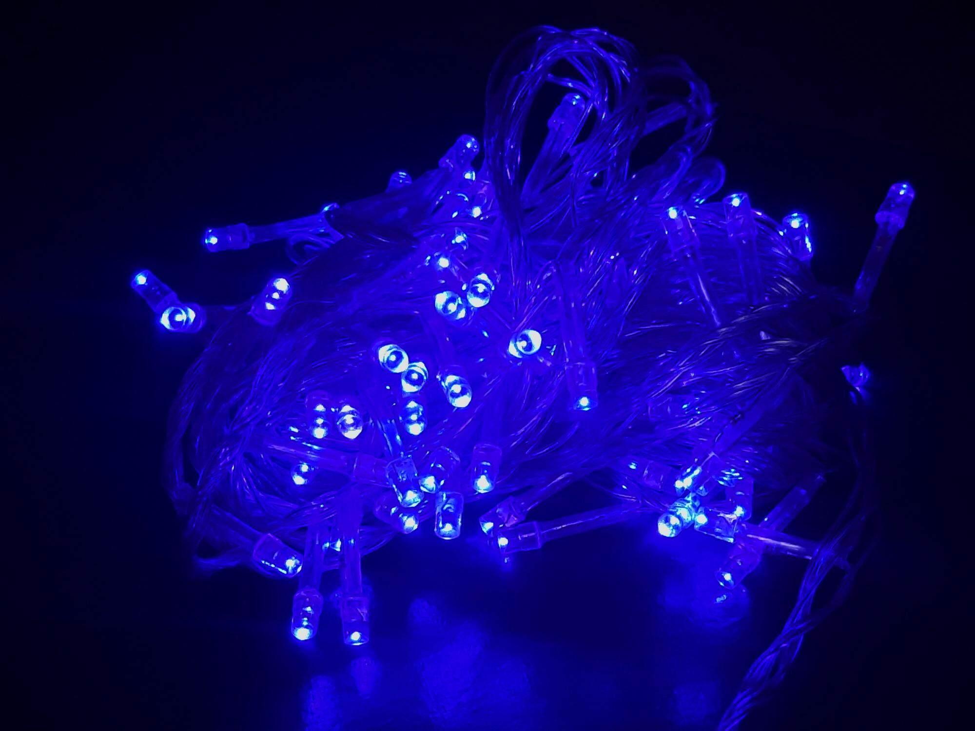 ไฟกระพริบ Led 100 ดวง ปรับได้ 8 จังหวะ กันน้ำได้ ยาว 8 เมตร ไฟตกแต่ง ไฟประดับ ไฟหยดน้ำ งานเทศกาล ไฟปีใหม่ ไฟคริสมาส By Smec.