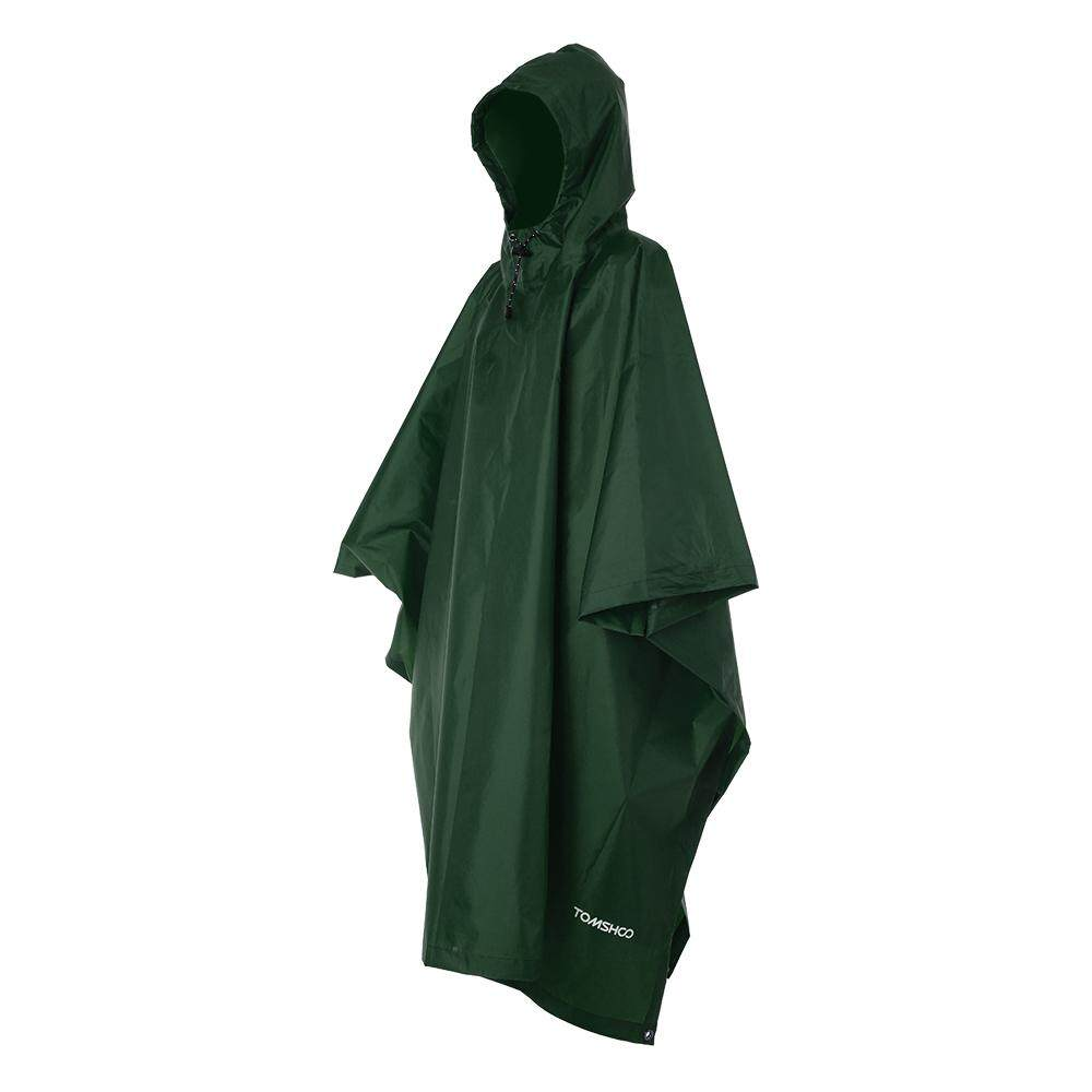 2564776c4a98 TOMSHOO Multifunctional Lightweight Raincoat with Hood Hiking Cycling Rain  Cover Poncho Rain Coat Outdoor Camping Tent Mat