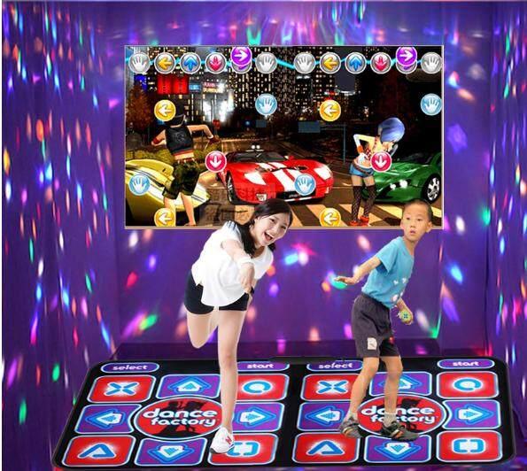 แผ่นเกมส์เต้นแบบเต้นคู่ พร้อมจอยคู่ไร้สาย ต่อtvเล่นได้ ภาพคมชัด By Kon Ruk Family.