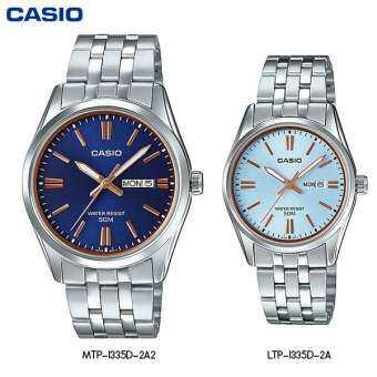 Watchup นาฬิกา นาฬิกาข้อมือ เซ็ตคู่ Casio Watch - รุ่น LTP-1335D MTP-1335D-