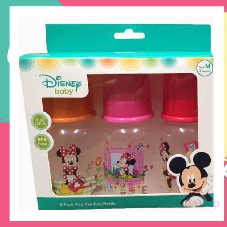 Disney Baby ขวดนมมิ้กกี้เม้าขนาด(คละไซส์)(4oz)แพ็ค 3ขวด(1ขวด).