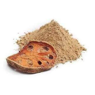 มะตูมผง(bael Powder) เกรดยา 100g 1 ซอง ชงชาดื่มหรือผสมลงให้อาหาร มีกลิ่นหอมหวาน ไม่ผสมน้ำตาล สมุนไพรเป็นยาบำรุงร่างกาย รักษาธาตุ บำรุงธาตุไฟ ช่วยย่อยอาหาร แก้ท้องเสีย บิด อาการท้องผูกเรื้อรัง ป้องกันโรคมะเร็ง รักษาแผลในกระเพาะอาหาร ลดความดันโลหิตสูง.