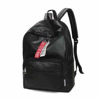 Dplus กระเป๋าเป้ สะพายหลังแฟชั่น หนัง puสีดำ รุ่น044-