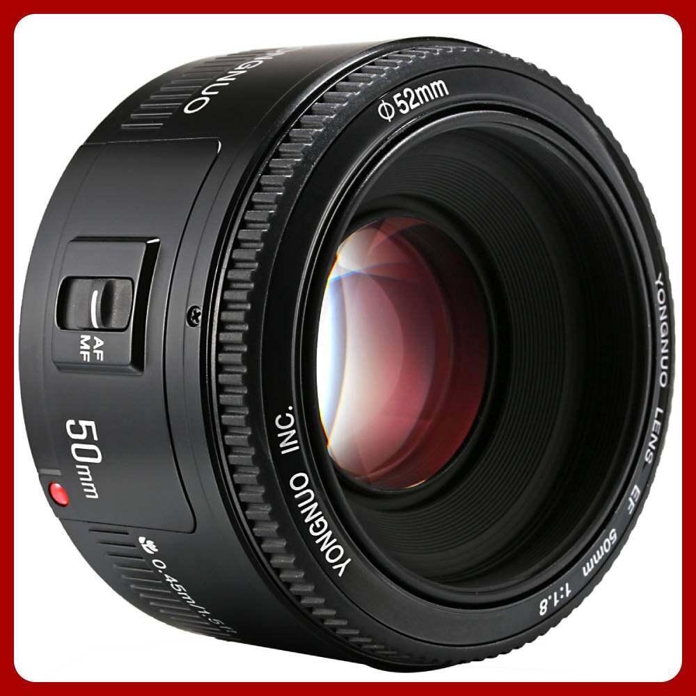 Yongnuo ออโตโฟกัสเลนส์ Yn 50mm F/1.8 Af/mf สำหรับ Canon Ef Mount Eos Camera (สีดำ).