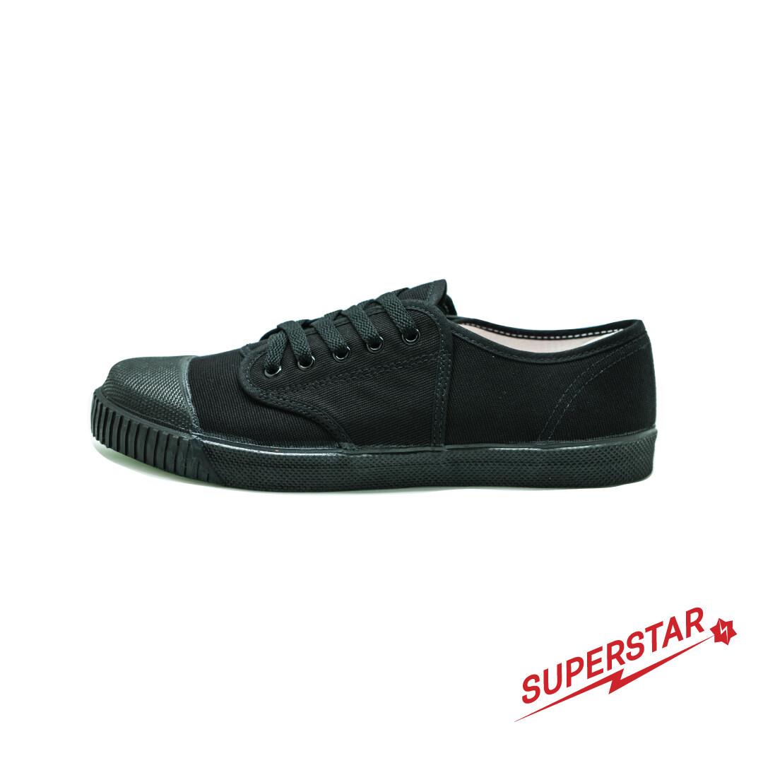 รองเท้าผ้าใบนักเรียนนันยาง รุ่นsuperstar สีดำ(black).
