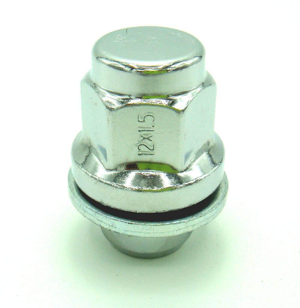 1 ตัว น๊อตล้อแมกซ์โครเมียมแบบแหวน ตัวสั้น เกลียว 1.5.