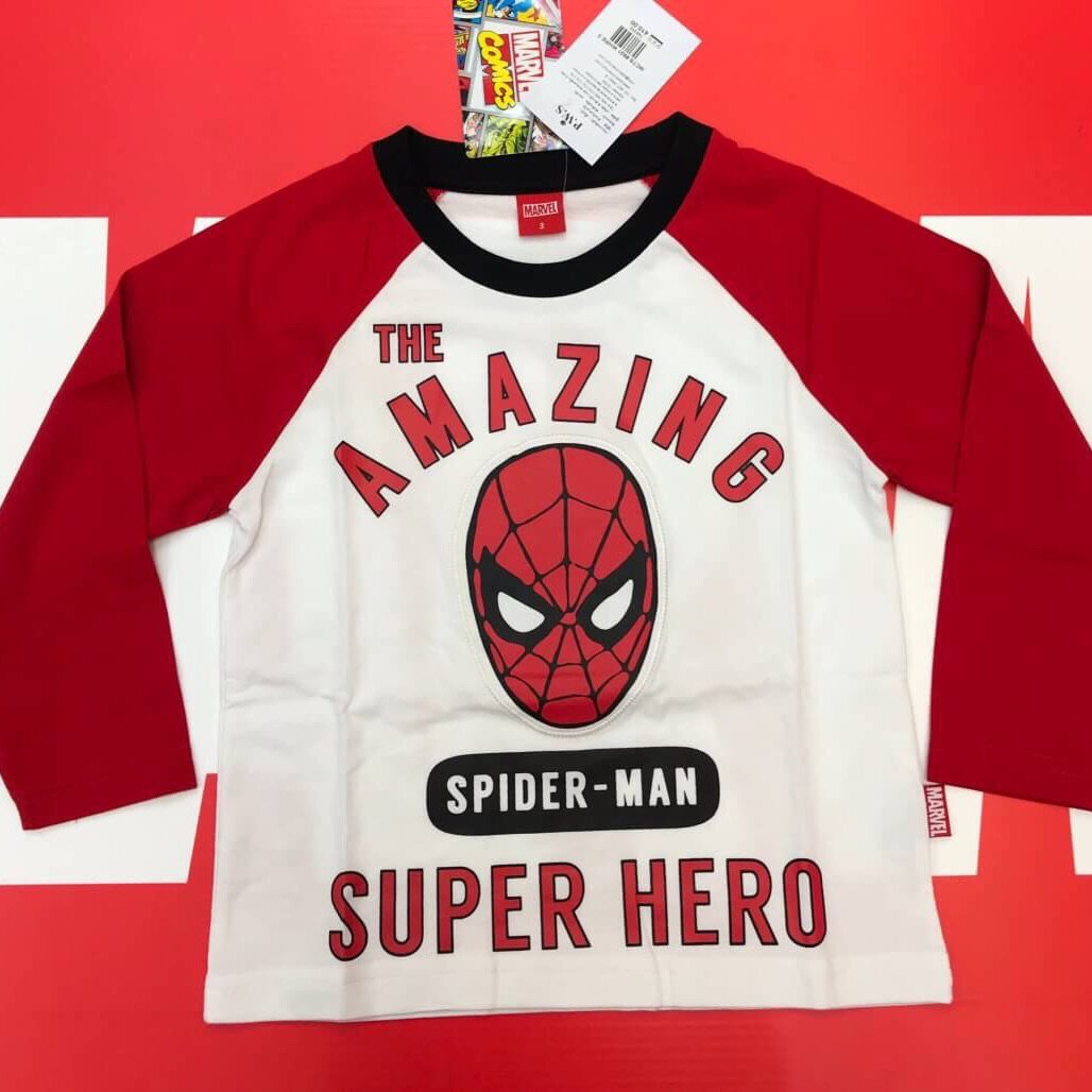 Spider-Man Cotton T-shirt Long Sleeves 3-5-7-9