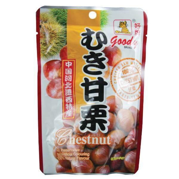 เกาลัดอบสูตรญี่ปุ่น ตรากู๊ดดี้ ขนาด 150 กรัม อร่อย มีประโยชน์ อุดมไปด้วยวิตามินบี แร่ธาตุ โพแทสเซียม และกรดโฟลิก.