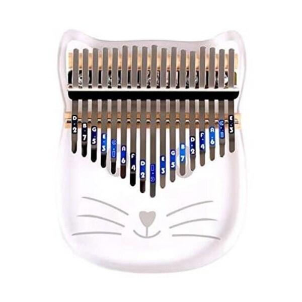 Kalimba 17 Keys,Crystal Thumb Piano with Study Instruction Tuning Hammer, Mbira Finger Piano Musical Instrument Gift