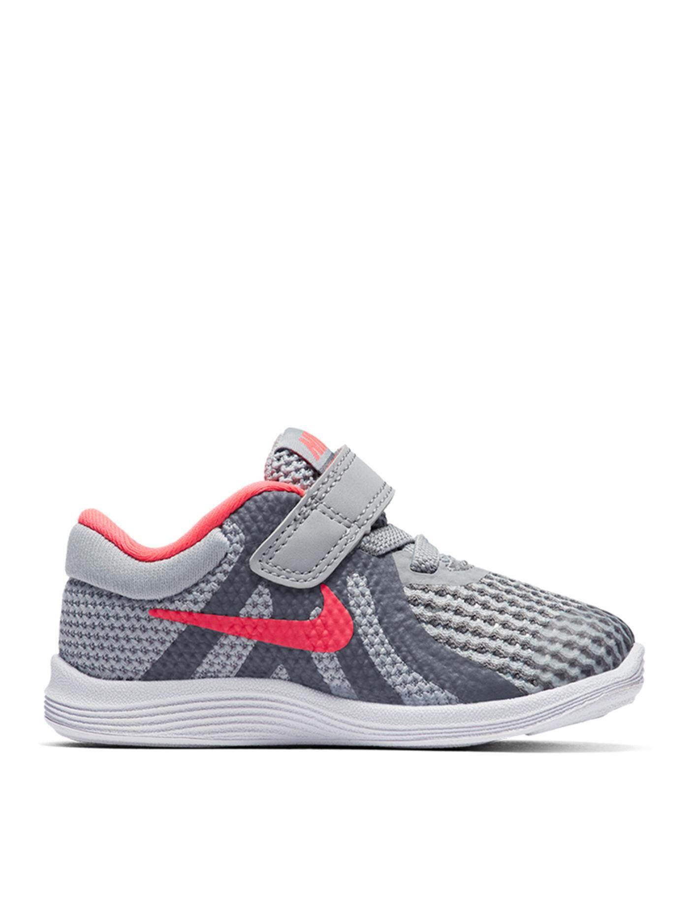 8b569d364bae6 NIKE รองเท้าวิ่งเด็กผู้หญิง Revolution 4 (TDV) 943308-003 ไซส์ US9C สีWolf  Grey-Racer Pink-Cool Grey-White