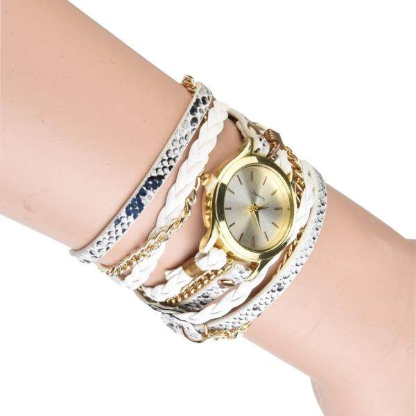 Bohemian Style Fashion Weave Leather Bracelet Lady Womans Wrist Watch Malaysia