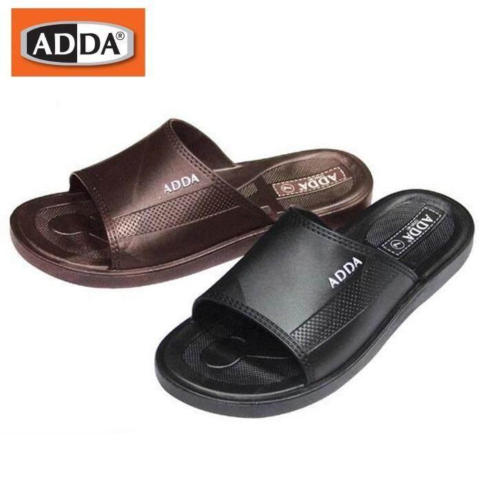 ADDA 12Y01 รองเท้าแตะแบบสวมชาย   สีดำ สีน้ำตาล มีเบอร์ 7-10   ขนาดเทียบไซด์ตามตารางที่รูปสุดท้ายนะคะรุ่นรองเท้าผลิตจากวัสดุ PVC ทน โดนน้ำ แห้งง่าย ค่ะ