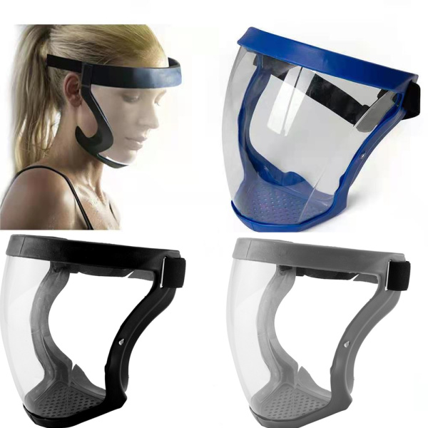 【JMYmall】Detachable Face Shield Acrylic Full Faceshield Strong Screen Anti-Shock Sports Breathable Golf Head Cover Comfortable To Wear Head Shield For Adult Face Shield Protector