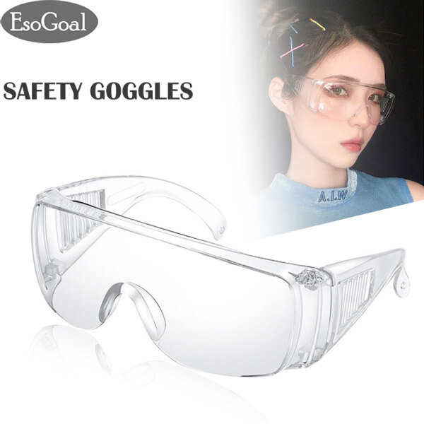 [Promotion!]EsoGoal Safety Goggles Effectively Anti Infection Eyes Shield Anti Droplets Safety Protective Glasses Protection Anti-fog Anti-splash Sand-proof Goggles Unisex Eye Shield Spectacles Outdoor
