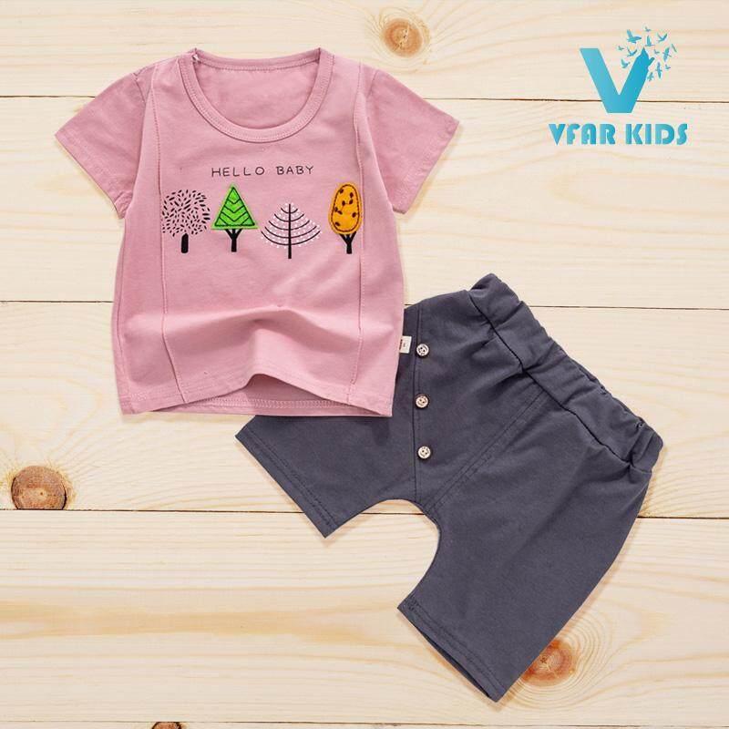 ซื้อที่ไหน Vfar Kids ชุดเสื้อผ้าเด็กเข้าชุด ชุดเด็กผู้หญิง ชุดเด็กผู้ชาย ลายฮัลโหล เบบี้ (0-3 Years)
