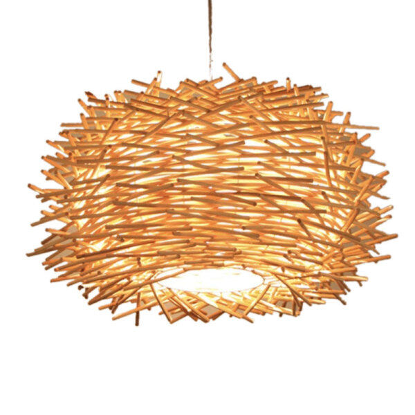 30CM LED Hand-Woven Rattan Lampshade Personalized Chandelier Corridor Living Room Cafe Shop Dining Room Lampshade