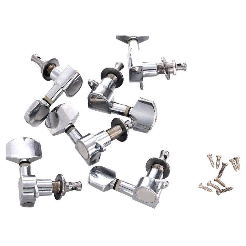 Giá New 6 pcs Chrome Guitar String Tuning Pegs Tuners Machine Heads