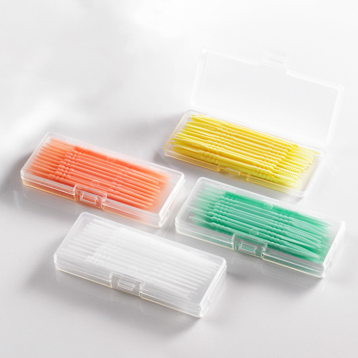 ไม้จิ้มฟันพลาสติก แบบมีแปรง หัวคู่ 40 ชิ้น ไม้จิ้มฟันพลาสติก แบบมีแปรง หัวคู่มัลติฟังก์ชั่น หลากสี ทางร้านจะสุ่มสีสินค้า สีขาวหรือสีฟ้า.
