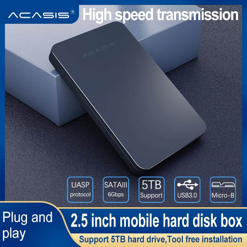 Acasis Hdd Enclosure Hard-Disk External Enclosure Case Hard Disk Drive Box Tool-Free With Usb Cable For 5tb 2.5 Sata Sataii Sataiii Ssd External Hard Disk.