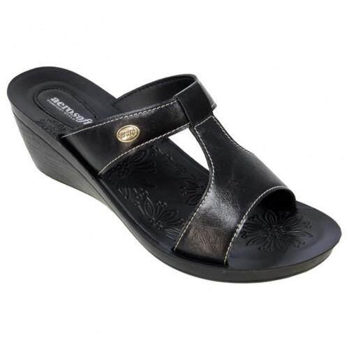 แอโร่ซอฟ รองเท้าแตะสตรี สีดำ ไซส์ 38