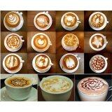 ขาย 6Pcs Set Fashion Cappuccino Coffee Barista Stencils Template Strew Pad Duster Spray Tools เป็นต้นฉบับ