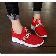 ราคา รองเท้าผ้าใบแฟชั่นผู้หญิงแบบสลิปออน รุ่น 001 มี 3 สีให้เลือก ใหม่