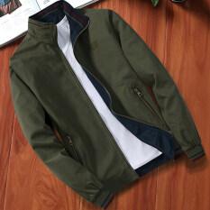 ส่วนลด เสื้อแจ็คเก็ตผู้ชายแบบบาง ผ้าฝ้าย ไซส์ใหญ่ 0019 กองทัพสีเขียวคอปก 0019 กองทัพสีเขียวคอปก Other