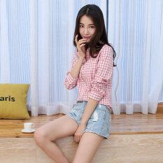 ขาย เกาหลีผ้าฝ้ายสีดำและสีขาวเพศหญิงป่าเสื้อเสื้อ 0029 Unbranded Generic ถูก
