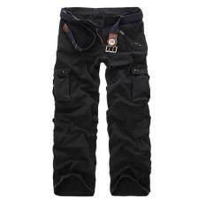 กางเกงฤดูใบไม้ผลิและฤดูใบไม้ร่วงกางเกงลายพรางของผู้ชาย 022 สีดำ ใหม่ล่าสุด