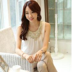 ราคา Mm เสื้อชีฟองฤดูใบไม้ผลิใหม่สวมใส่ด้านนอกแขนยาว 04 วรรคสีขาวเสื้อกั๊ก ใหม่