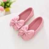 ส่วนลด 1 คู่เจ้าหญิงรองเท้าโบว์แบนรองเท้าเด็กวัยหัดเดินรองเท้าเด็กรองเท้าดอกไม้