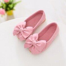 ซื้อ 1 คู่เจ้าหญิงรองเท้าโบว์แบนรองเท้าเด็กวัยหัดเดินรองเท้าเด็กรองเท้าดอกไม้ ใหม่