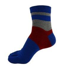 ราคา 1 Pair Men Middle Tube Sports Running Five Finger Toe Socks Intl Unbranded Generic จีน