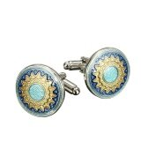 ทบทวน 1 Pair Vintage Gold Silver Mens Wedding Party Gift Shirt Cufflinks Cuff Links Intl Unbranded Generic