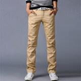 ซื้อ 10 Colors Men Pant Business Or Casual Mens Straight Trousers Cargo Pants Khaki Intl ใน จีน