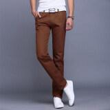 ขาย 10 สีผู้ชายบางกางเกงธุรกิจหรือสไตล์ลำลองกางเกงตรงยาวกางเกง กาแฟ นานาชาติ Unbranded Generic ผู้ค้าส่ง
