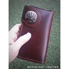 ทบทวน กระเป๋าสตางค์หนังแท้ 100 หนังวัว หนังออยเงาสวย แฮนด์เมด ใบสั้น สีน้ำตาล ดิบ เถื่อน เท่สุดไม่ซ้ำใคร งานไทย ทนทาน ลดราคา พร้อมกล่อง Moonlight