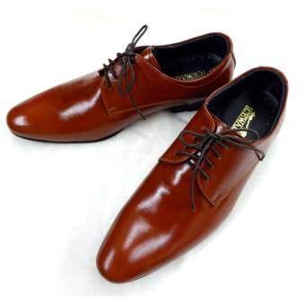 LEATHER PAPA รองเท้าหนังวัวแท้ รองเท้าหนัง รองเท้าทางการ รองเท้าทำงาน รองเท้าคัทชู รองเท้าผูกเชือก รองเท้าชาย รองเท้าหนังแท้ 100% Hand-Made Genuine Leather Shoes 2996-สีน้ำตาลแดง