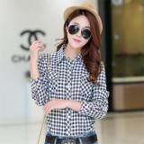 ราคา ราคาถูกที่สุด เสื้อเชิ้ตลายสก๊อตแบบลำลองของผู้หญิง ผ้าฝ้าย 1008 1008
