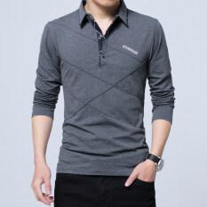 ซื้อ เสื้อยืดผู้ชายแขนยาวมีปกสไตล์นักธุรกิจ 1182 สีเทาเข้ม 1182 สีเทาเข้ม Unbranded Generic ถูก