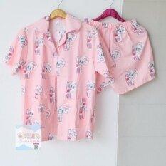 ขาย ชุดนอนเสื้อแขนสั้น กางเกงขาสั้น ชุดนอน 120 ถูก กรุงเทพมหานคร
