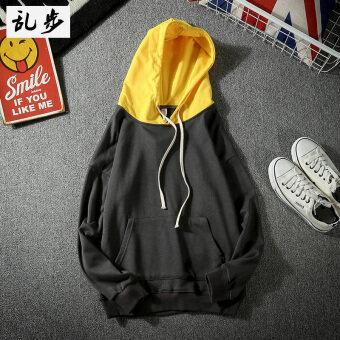พลัสกำมะหยี่ฤดูใบไม้ร่วงและฤดูหนาววัยรุ่นเสื้อสวมหัวคลุมด้วยผ้าเสื้อกันหนาว (126 คลุมด้วยผ้าเสื้อกันหนาวสีเทาเข้ม)