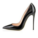 ส่วนลด สินค้า 12Cm High Heels Shoes Woman Pumps Wedding Bridal Shoes Black Heels Intl
