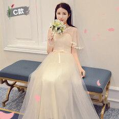 ราคา เกาหลีสลิมจัดงานแต่งงานเพื่อนเจ้าสาวส่วนยาวชุดเดรสชุดเพื่อนเจ้าสาว 168 ส่วนยาวแชมเปญวรรค C Unbranded Generic เป็นต้นฉบับ